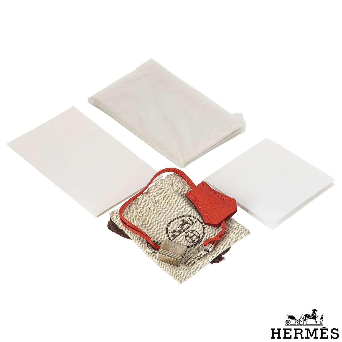 Hermès Rouge Pivoine 30cm Birkin Bag